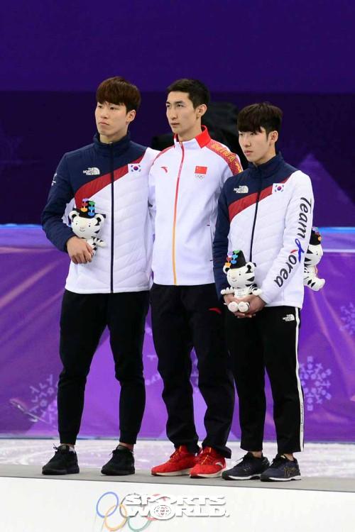황대헌-임효준,'500m 은메달 동메달 획득'